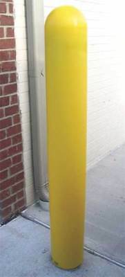 Bollard Cover,4 In,52 In H,Yellow ZORO SELECT BPD-YL-4-52-S