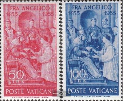 Vatican 233-234 (complete.issue) used 1955 Fra Angelico