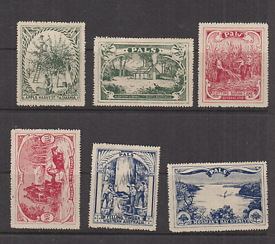 AUST 1920s (-) Country Scenes PALS LABELS/Vignette -Cinderella- HM set comp (6)