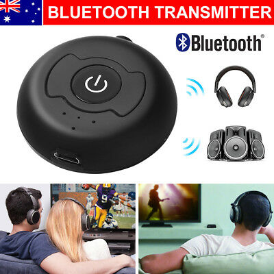 AU Bluetooth Transmitter 3.5mm A2DP Stereo Audio Adapter Dongle For TV Speaker