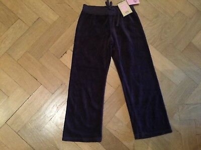 NWT Juicy Couture New & Genuine Brown Velour Tracksuit Pants Girls Age 6
