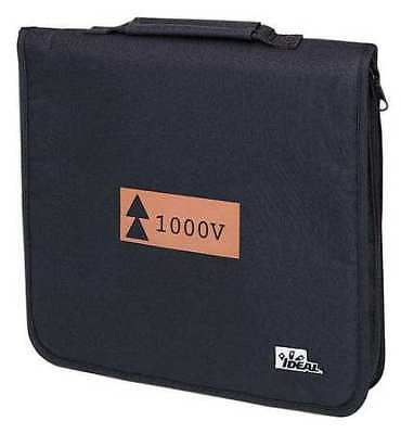 "IDEAL 35-9352 Soft Zippered Tool Case, Nylon, 14""W x 2""H, Black, 20 Pockets"