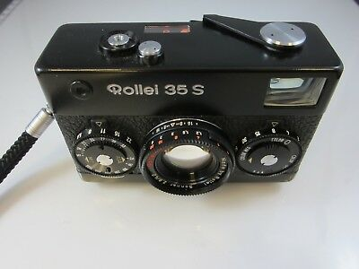 Rollei 35 S 35S Black with HFT Sonnar 40mm f/2.8 Lens - Very Good Condition