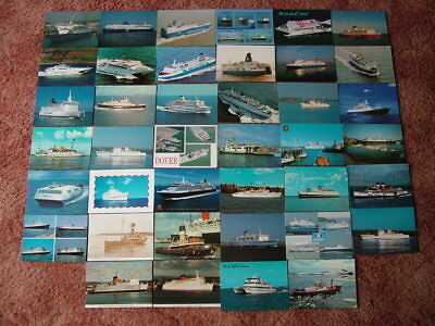 40 Postcards of SHIPS, BOATS, LINERS, FERRIES, ETC. Postally Unused.