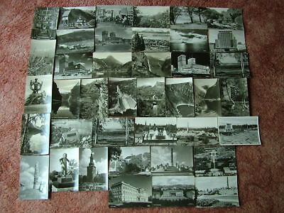 40 Real Photo Black & White Postcards of NORWAY.  Good condition. 1950's/1960's.