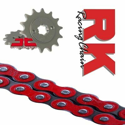 Honda MSX125 Grom Chain and Sprocket Kit Red RK Racing JT Sprockets 2013-18
