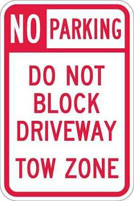 Sign,No Parking,18 x12 In LYLE T1-1099-HI_12x18