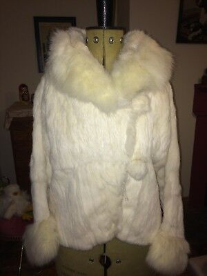 1920's White Rabbit & Fox Fur Jacket