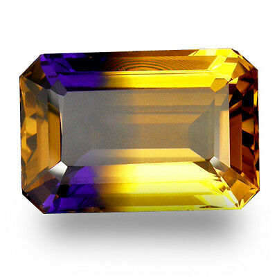 22.25 CT. WONDERFUL EMERALD FACET PURPLE & GOLDEN BI-COLOR AMETRINE 22.2 x 15 MM