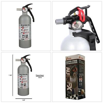 Fire Extinguisher Automobile Cars Boats Protection Fires Safety Dry Powder 5-B:C