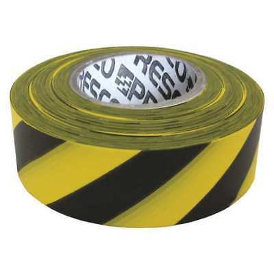 Flagging Tape,Yllw/Blk,300ft x 1-3/16 In PRESCO PRODUCTS CO SYBK-200