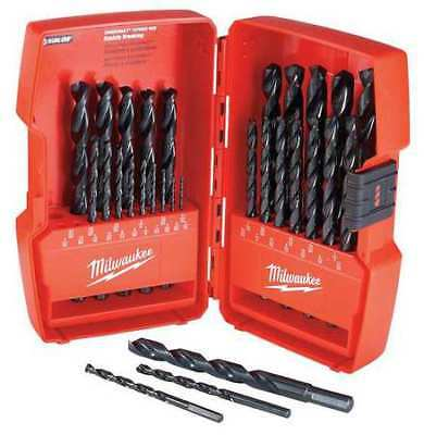 MILWAUKEE 48-89-2802 29pc. Thunderbolt® Black Oxide Drill Bit Set