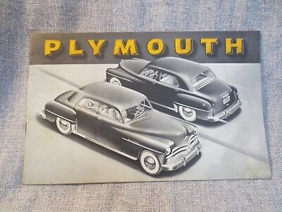 Vintage Plymouth Car Advertising Poster Brochure Print