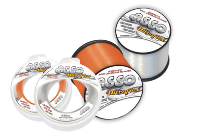 Asso NEW Ultraflex Rig Body Shockleader Sea Fishing Line - 4oz Spool - All Sizes