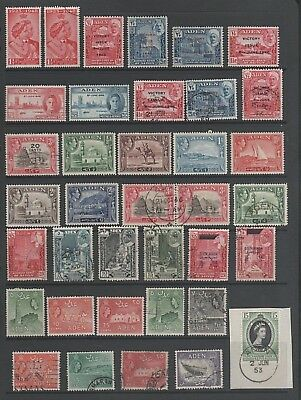 Aden Small Mint and Used Collection From Old Album