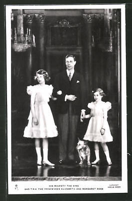 AK The Majesty King and T.R.H. the Princesses Elizabeth and Margaret Rose