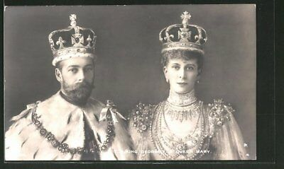 King George V. and Queen Mary, Ansichtskarte