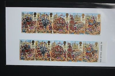 2 x Se-Tenant Strips - Lord Mayors Show London - 1989