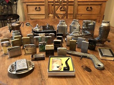 Vintage Cigarette Lighter Collection, Zippo Ronson Lots Of Others