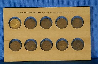 1911 to 1920 Large Cent Canada 10 Coin Set