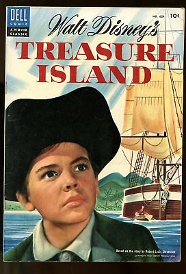 Four Color #624 Fine Treasure Island 1955 Dell Comics