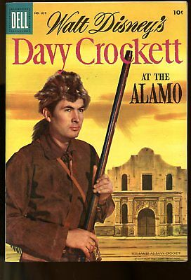 Four Color #639 Fine Walt Disney / Davy Crockett 1955 Dell Comics