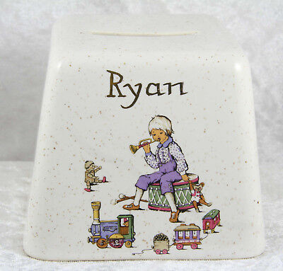 Kernewek Goodhavern Cornwall Ryan named money box 3 inches tall with stopper