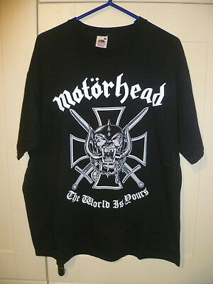"""Motorhead - 2010 Vintage """"the World Is Yours"""" Black T-Shirt (Xl)"""