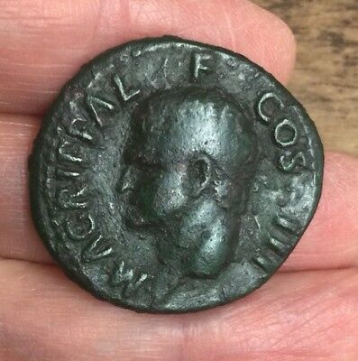 Roman. Agrippa (Grandfather Of Caligula, Died 12 B.c). Large Copper Coin (Ae As)