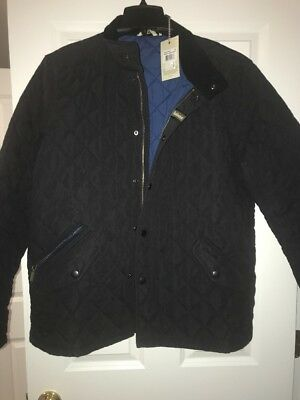 Barbour Men's Black XL Shoveler Quilted Jacket Brand New With Tags MSRP $219