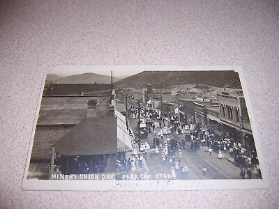 June 13, 1911 Miner's Union Day Downtown Park City Utah Rppc Postcard