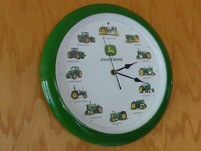 John Deere Tractor Wall Clock With Tractor Sound on the Hour
