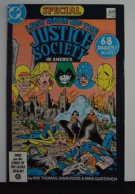 Last Days of The Justice Society Special #1   (DC, 1986)  No Ads!