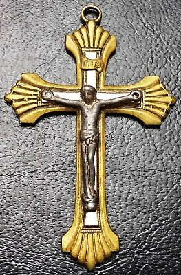 Vintage INRI Christianity Cross Pendant - Free Combined Shipping
