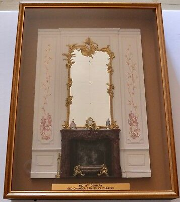 Magnificent Miniature Susan Rogers & Kevin Mulvany Framed Sans Souci Bed Chamber