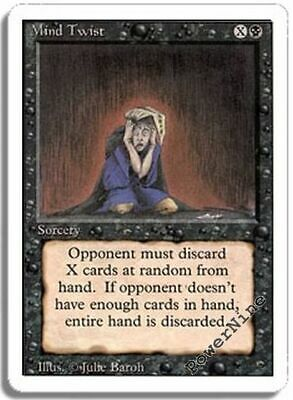 1 PLAYED Mind Twist - Black Revised 3rd Edition Mtg Magic Rare 1x x1