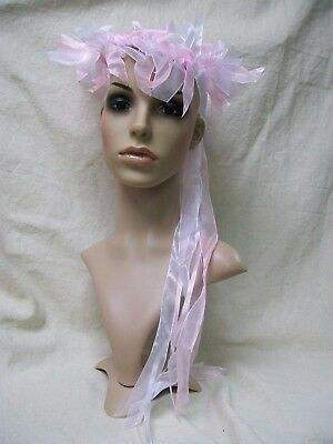 Pink Enchantress Circlet Headband Crown Fairy Halo Mother Nature Garden Medieval