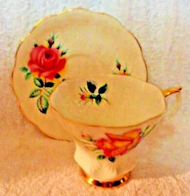 Royal Albert Sweet Heart Series Anne Pink Rose  Cup and Saucer As Seen