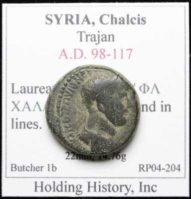 SYRIA, Chalcis. Trajan, Legend in lines