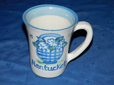 M. A. Hadley Nantucket Collectible Mug features basket with flowers