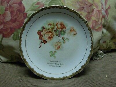 Vintage Advertising Plate - Compliments The Home State Bank Tipton Kansas
