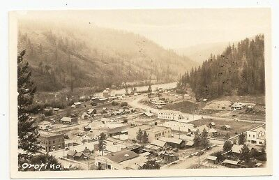Orofino, old panorama view,  Idaho ID photo rppc Postcard
