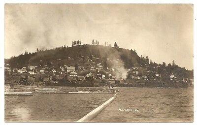 Lake Coeur d'Alene Harrison 1909 Idaho ID photo rppc Postcard
