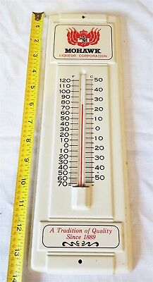 "Vintage Mohawk Liqeur Tin Litho Thermometer 14"" Tall"