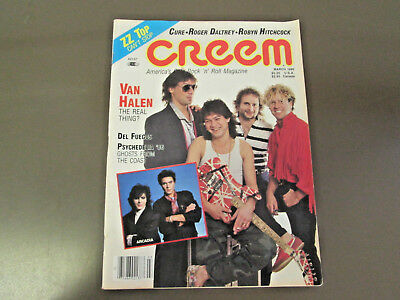 March 1986 CREEM MAGAZINE with Van Halen and Arcadia on the cover