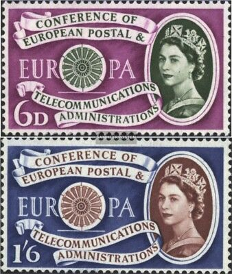 United Kingdom 341-342 (complete issue) unmounted mint / never hinged 1960 Europ