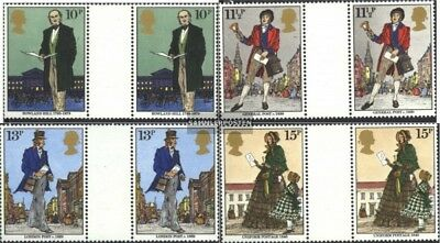 United Kingdom 804-807 between steg couple (complete issue) unmounted mint / nev