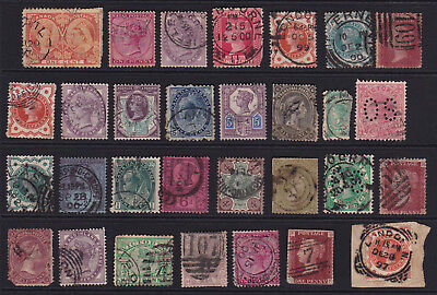 GB & Empire Stamps 30 Queen Victoria Selection from Old Album