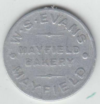 Bread Token, Evans Mayfield, Good For One Loaf,