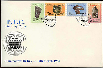 Zimbabwe 1983 Commonwealth Day, Sculptures FDC First Day Cover #C14277